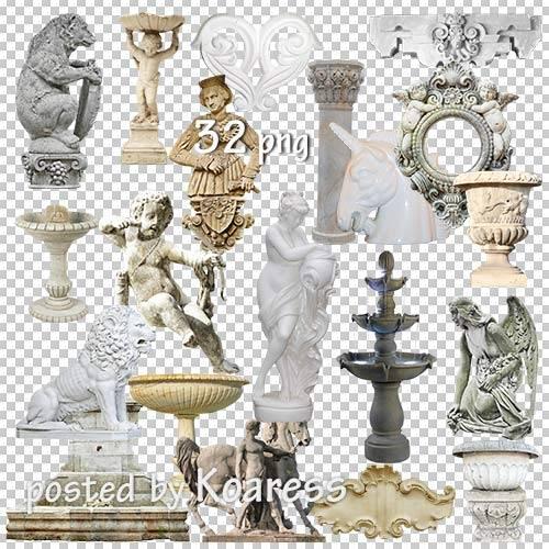 Растровый клипарт png - Статуи, барельефы, колонны, фонтаны и другие элемен ...