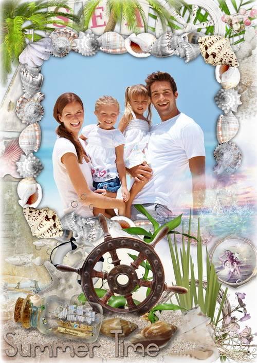 Рамка для оформления фото - Отпуск у синего моря