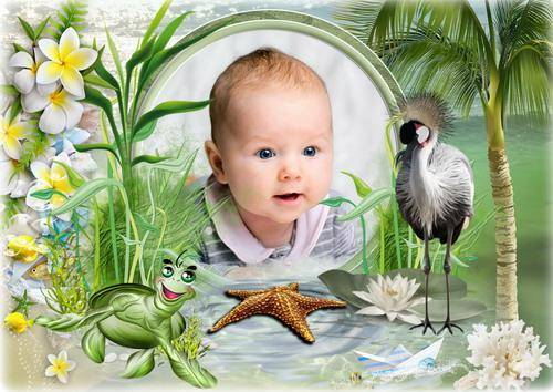 Детская рамка для фото - Яркие краски лета