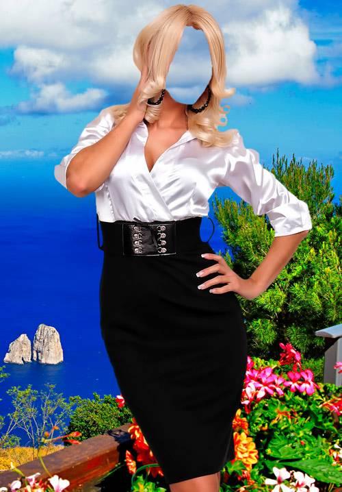 Шаблон для фотошопа  - Деловая женщина