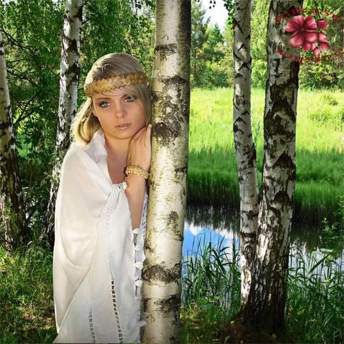 Шаблон  женский – Берёзка