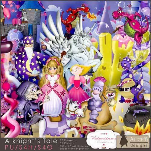 Детский сказочный скрап-набор - История рыцарей