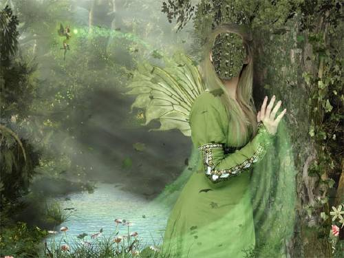Шаблон psd женский - Лесная фея
