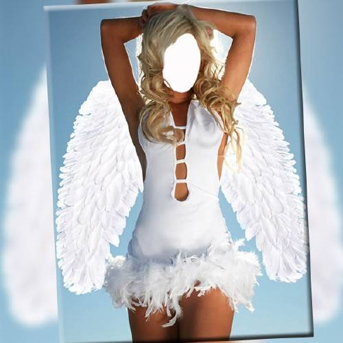 Шаблон для фотомонтажа - Костюм ангела