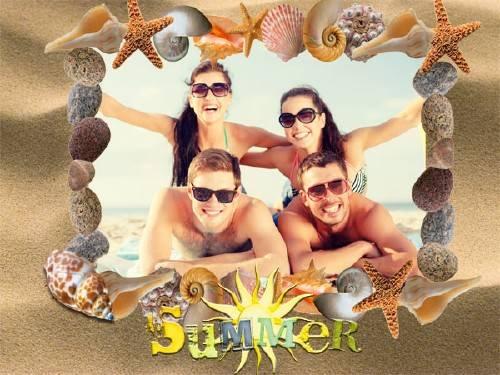 Рамка для фотошопа - Наше лето