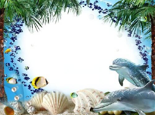Фоторамка для фотошопа - Морская фауна