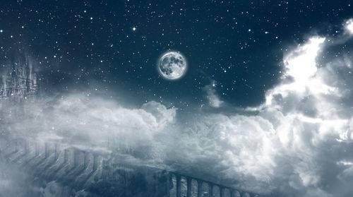 Видео футаж - Ночное царство