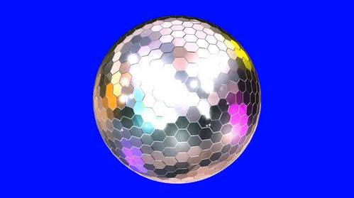 Футаж на хромакее - Зеркальный шар
