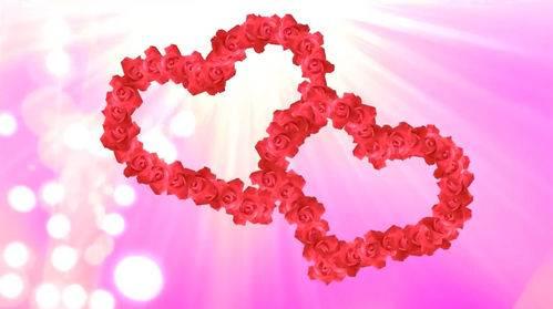 Футаж - Два сердца из роз
