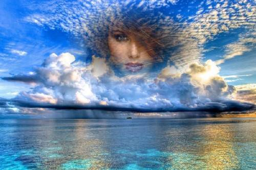Рамка для фотошопа - Морское небо