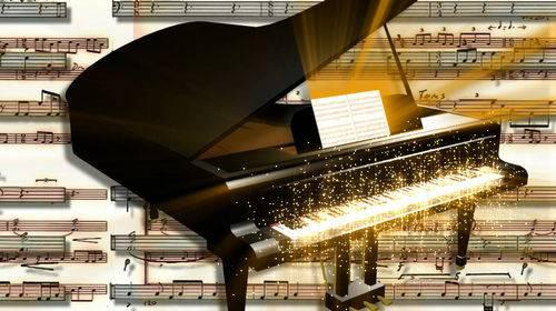 Видео футаж с роялем