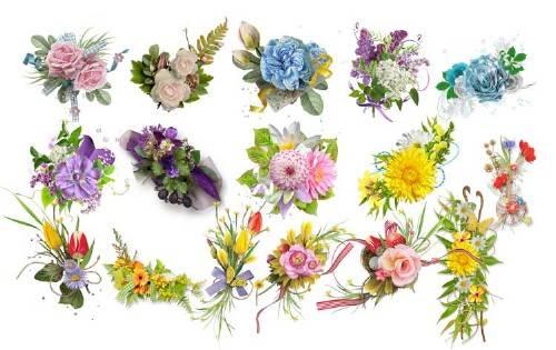 Набор кластеров для фотошопа – Цветочные фантазии