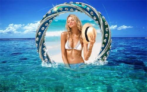 Фоторамка psd - Морская красота