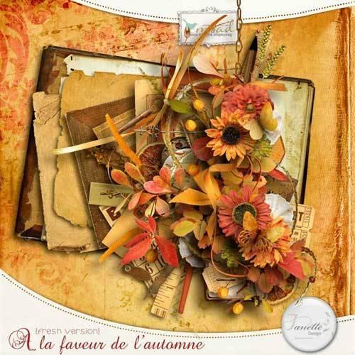 Осенний скрап в винтажном стиле - A la Faveur de l'Automne