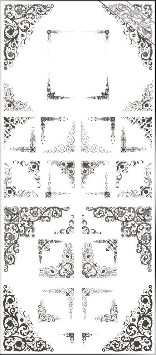 PSD исходник для фотошопа - Декоративные уголки №5