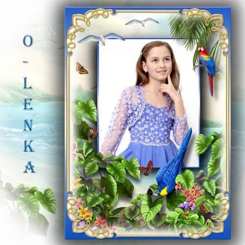 Рамка для фотошопа - Тропический остров