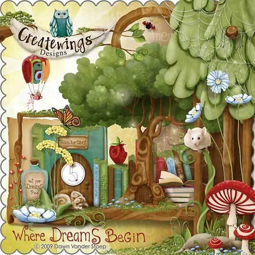 Сказочный детский скрап-набор - Где начинаются мечты