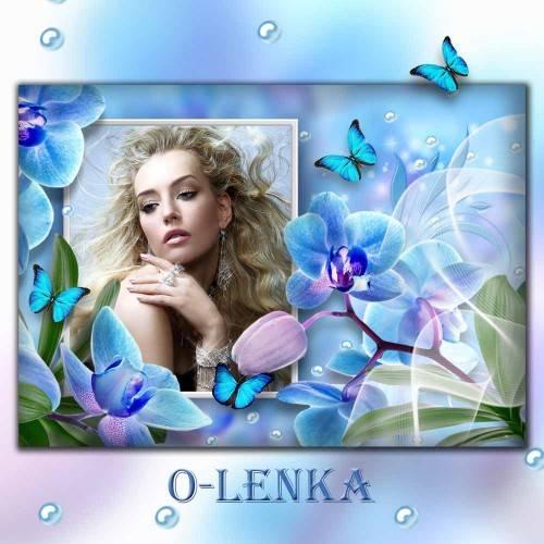 Рамка для фотошопа - В орхидеях есть тайная власть
