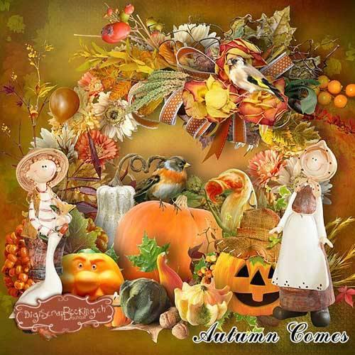 Осенний скрап-набор - Наступает осень