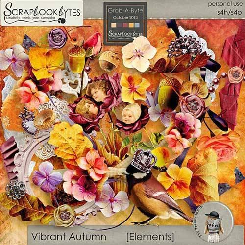 Осенний скрап-набор - Яркая осень