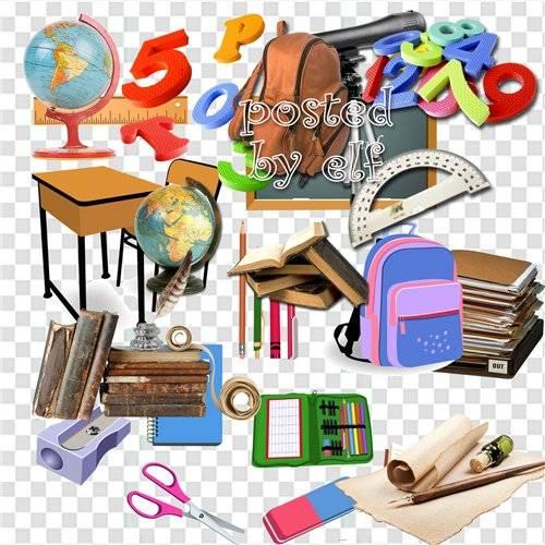 Школьный клипарт для дизайна в фотошопе