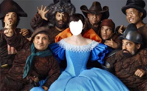Женский фотошаблон - Белоснежка и семь гномов