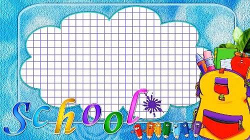 Школьный фоновый футаж HD - Школьная тема