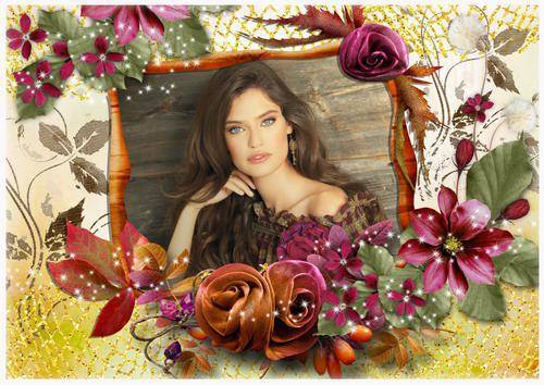 Цветочная рамка для фото - Краски осени