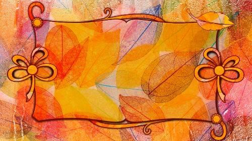 Фоновый футаж для видеомонтажа - Осень