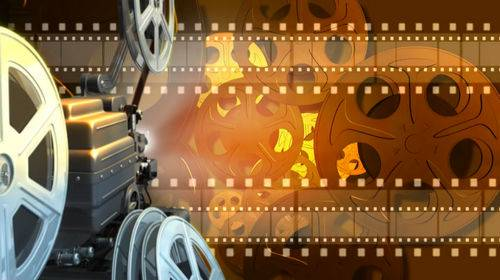 Футаж - Кинокамера и Кинопленка