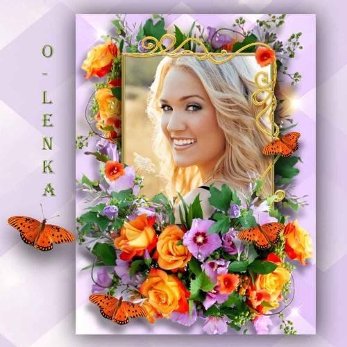 Рамка для фотошопа - Аромат цветов рождает грезы