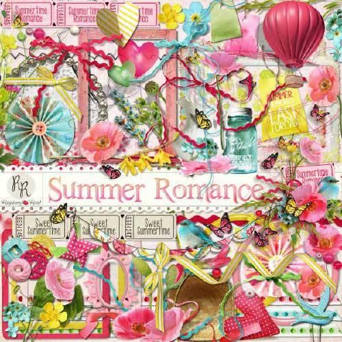 Цветочный скрап-набор - Романтика лета
