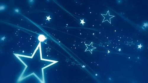 Видео футаж с летящими звездами
