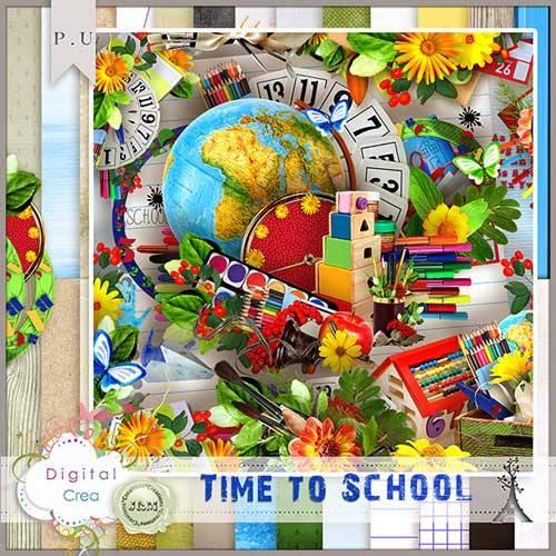 Яркий школьный скрап-набор - Школьное время