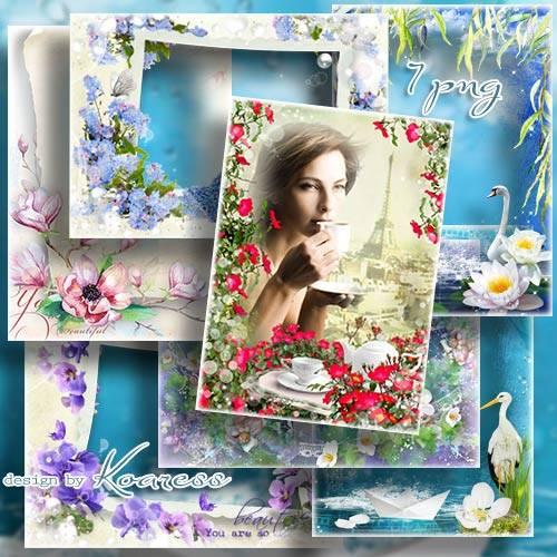 Рамки для фото в png - Нежных цветов аромат