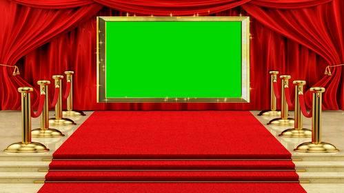 Футаж - Золотая рамка на хромакее