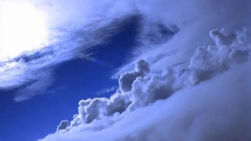 Футаж - Полет в облаках