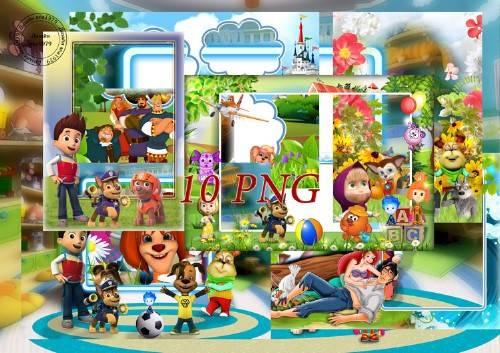 Сборник детских рамок для фотошопа – Время сказки