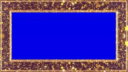 Футаж - Рамка из звезд на хромакее
