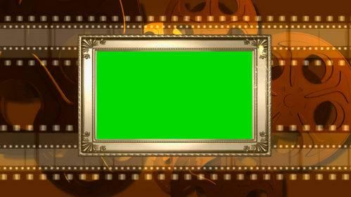 Футаж на хромакее - Рамка с кинопленкой