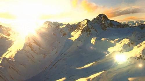 Футаж - Снежные горы