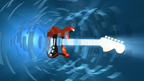 Видео футаж с гитарой