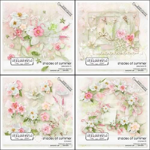 Цветочный скрап-набор - Оттенки лета