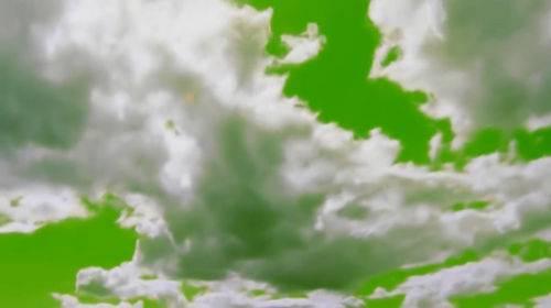 Футаж на хромакее - Летящие облака