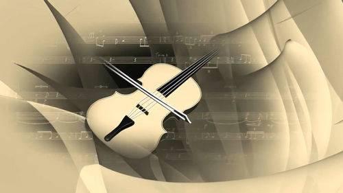 Видео футаж с нотами и скрипкой