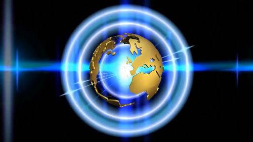 Футаж - Блики вокруг земного шара