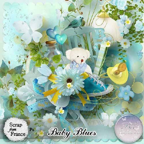 Детский скрап-набор - Baby Blues