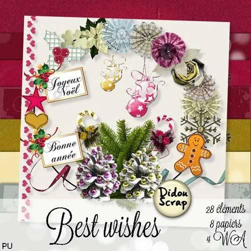 Новогодний скрап-набор - Наилучшие пожелания