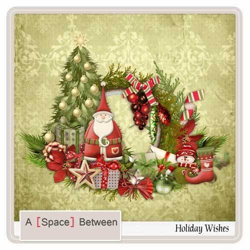 Новогодний скрап-набор - Праздничные пожелания
