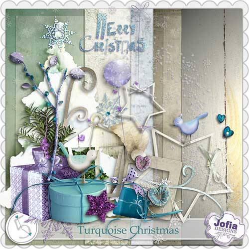 Рождественский скрап-набор - Бирюзовое Рождество